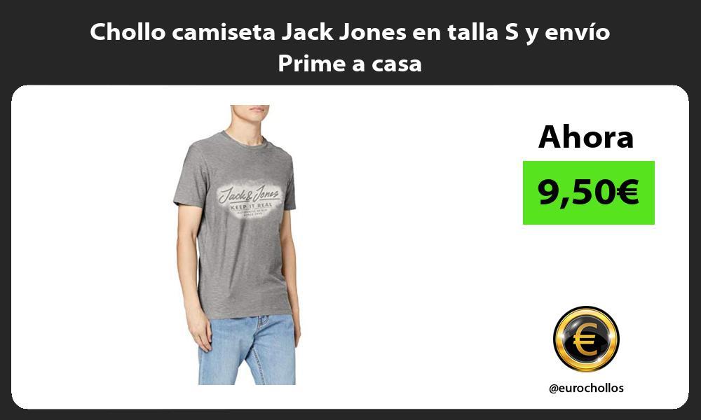 Chollo camiseta Jack Jones en talla S y envío Prime a casa