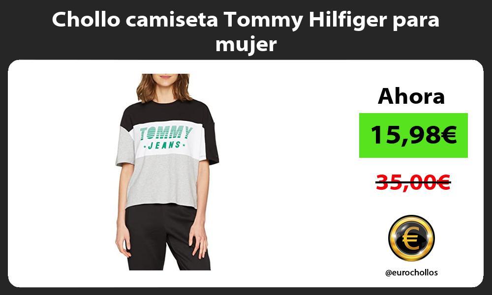 Chollo camiseta Tommy Hilfiger para mujer