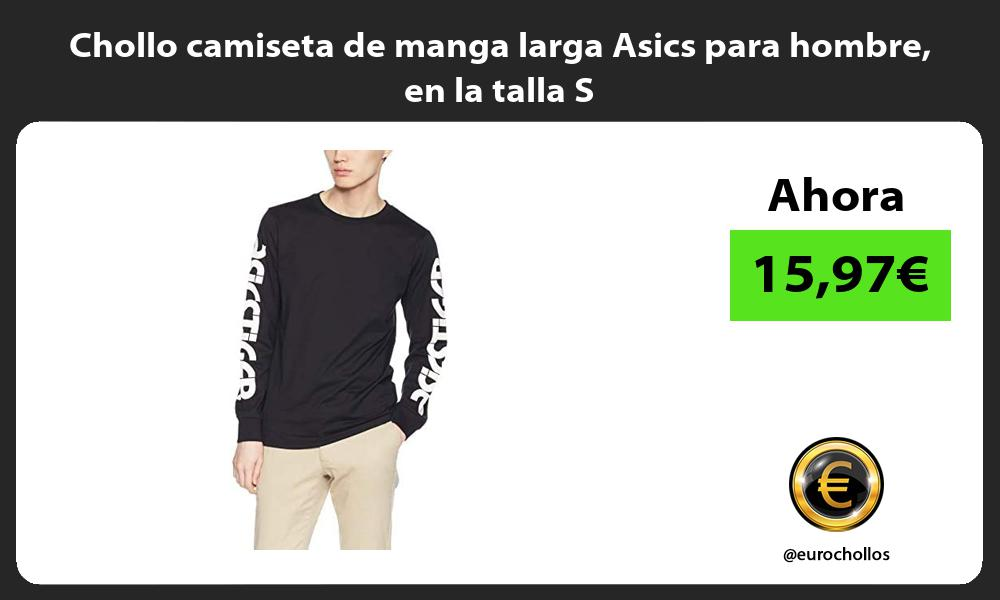 Chollo camiseta de manga larga Asics para hombre en la talla S