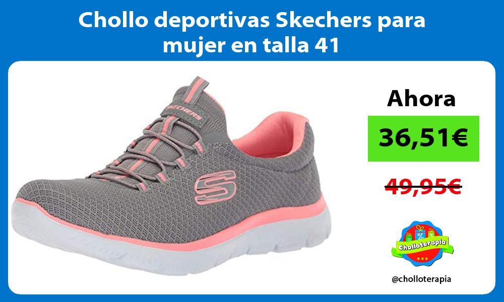 Chollo deportivas Skechers para mujer en talla 41