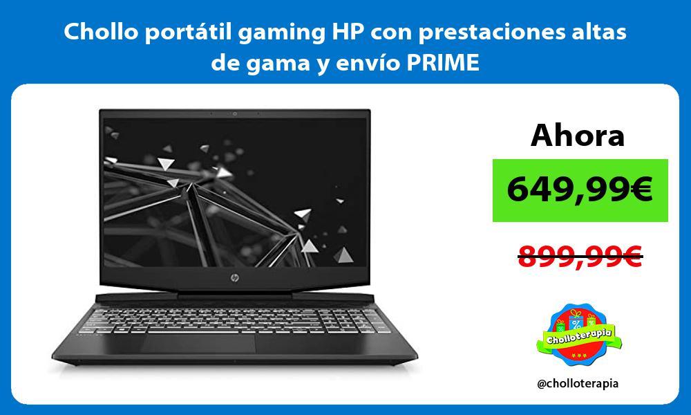 Chollo portátil gaming HP con prestaciones altas de gama y envío PRIME