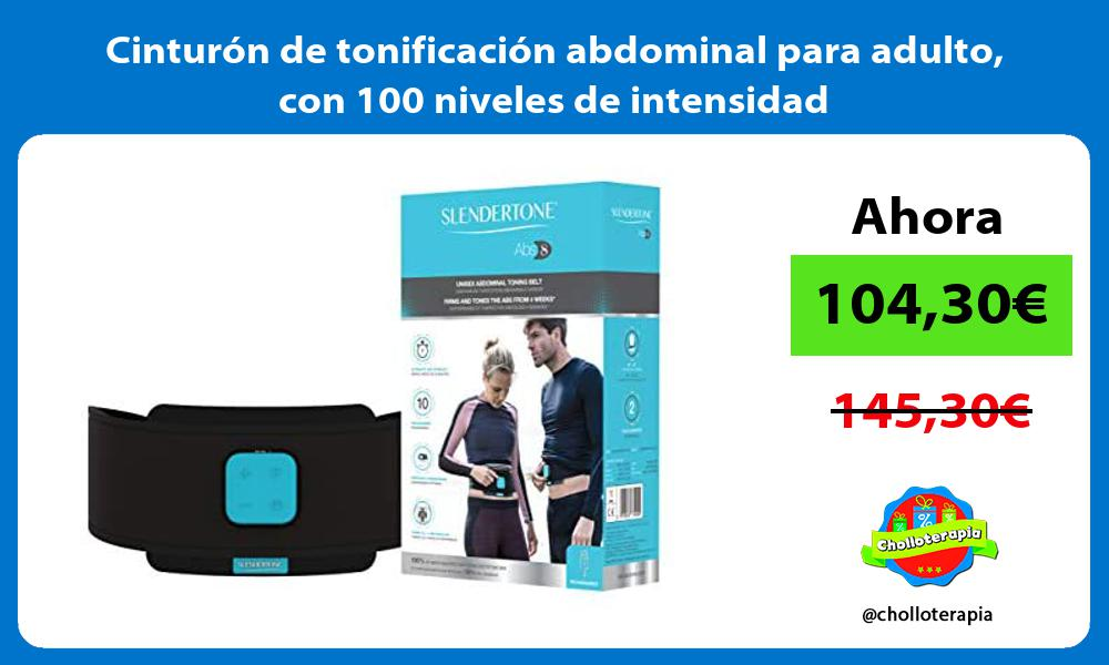 Cinturón de tonificación abdominal para adulto con 100 niveles de intensidad