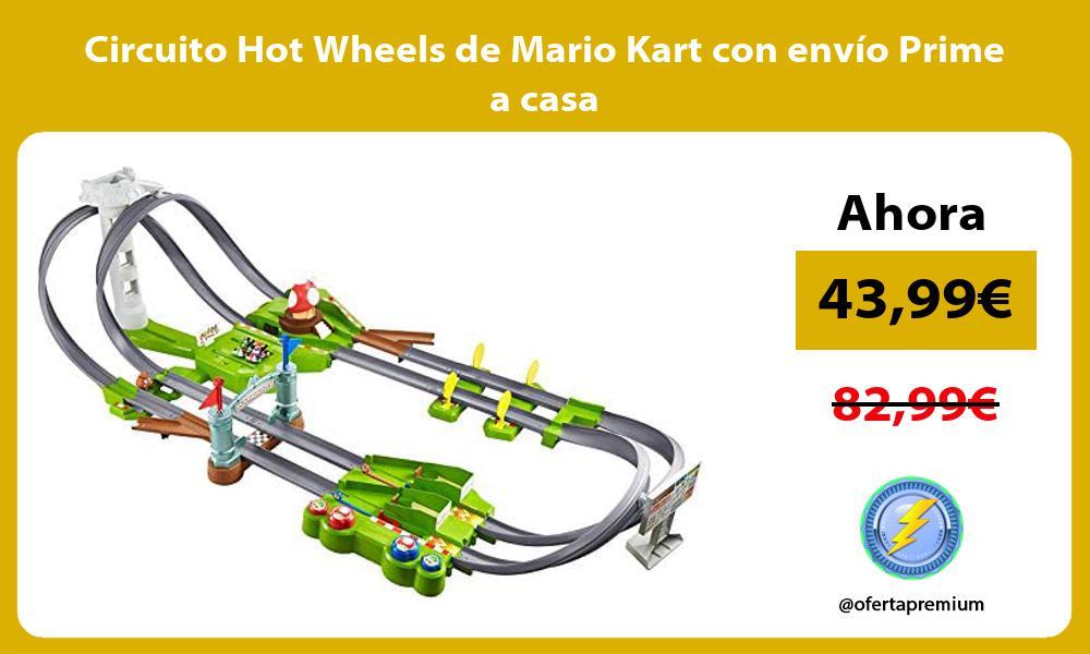 Circuito Hot Wheels de Mario Kart con envío Prime a casa