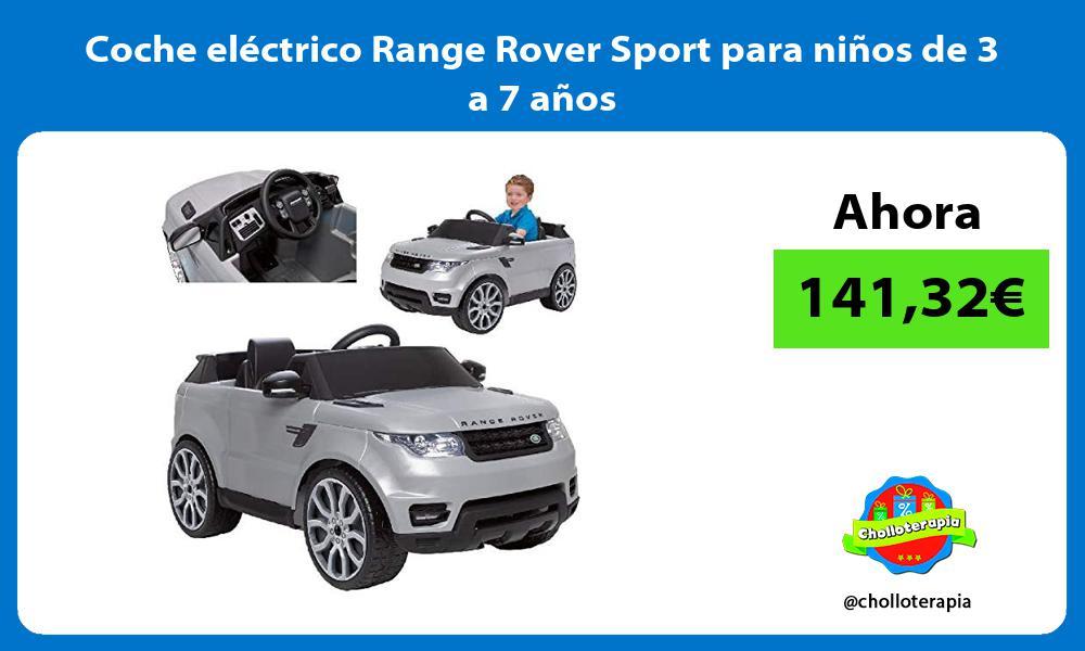 Coche eléctrico Range Rover Sport para niños de 3 a 7 años
