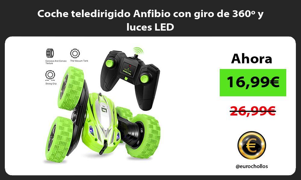 Coche teledirigido Anfibio con giro de 360º y luces LED