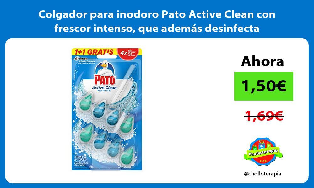 Colgador para inodoro Pato Active Clean con frescor intenso que además desinfecta