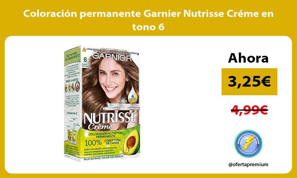 Coloración permanente Garnier Nutrisse Créme en tono 6