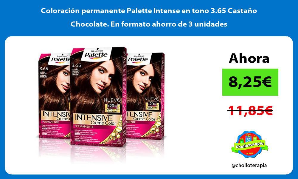 Coloración permanente Palette Intense en tono 3 65 Castaño Chocolate En formato ahorro de 3 unidades