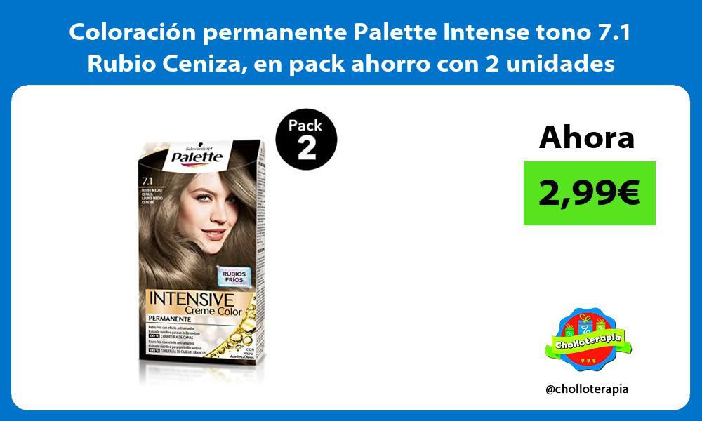 Coloración permanente Palette Intense tono 7 1 Rubio Ceniza en pack ahorro con 2 unidades