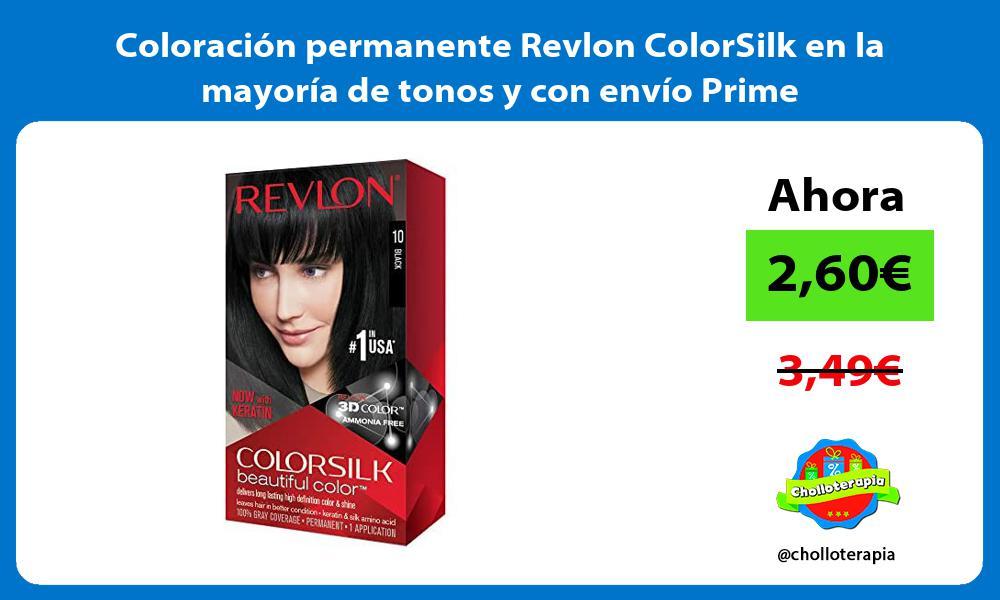 Coloración permanente Revlon ColorSilk en la mayoría de tonos y con envío Prime