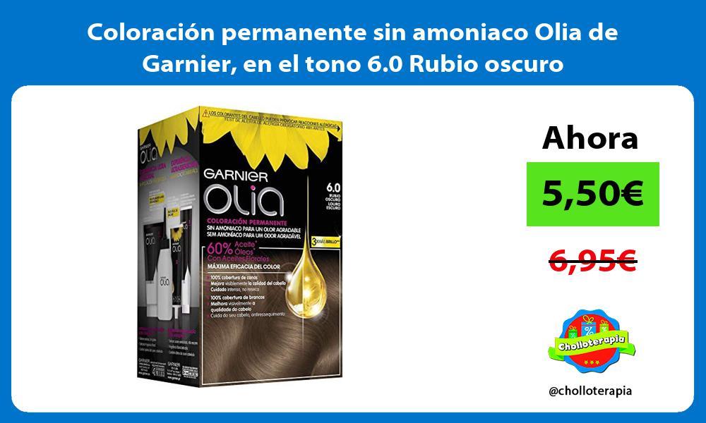 Coloración permanente sin amoniaco Olia de Garnier en el tono 6 0 Rubio oscuro