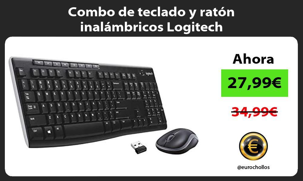 Combo de teclado y ratón inalámbricos Logitech