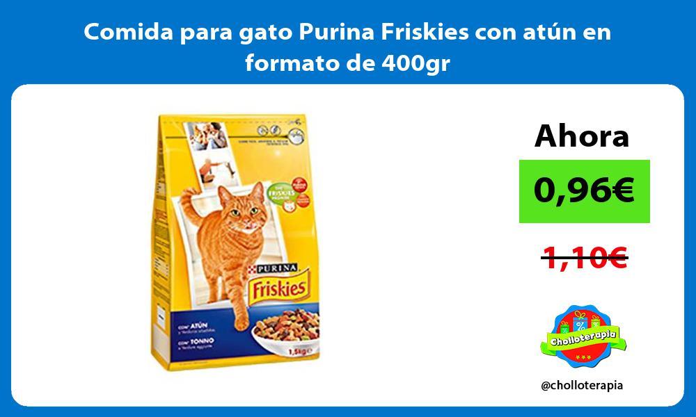 Comida para gato Purina Friskies con atún en formato de 400gr