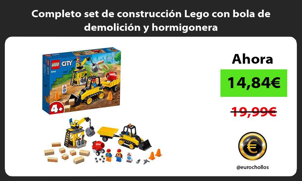 Completo set de construcción Lego con bola de demolición y hormigonera
