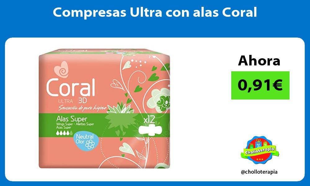 Compresas Ultra con alas Coral