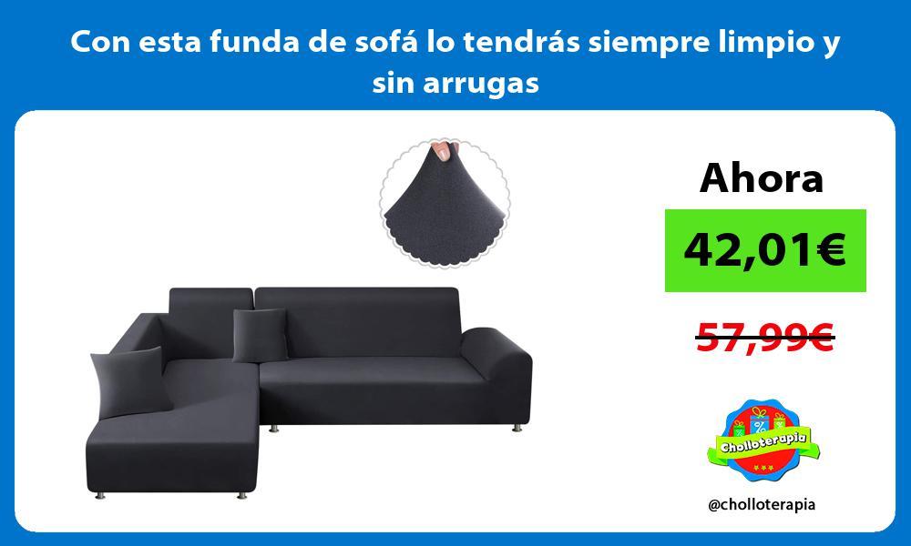 Con esta funda de sofá lo tendrás siempre limpio y sin arrugas