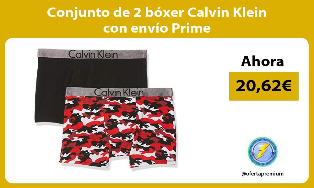 Conjunto de 2 bóxer Calvin Klein con envío Prime