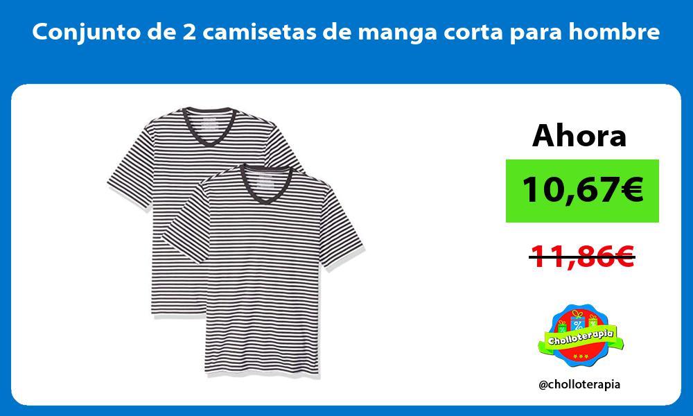 Conjunto de 2 camisetas de manga corta para hombre