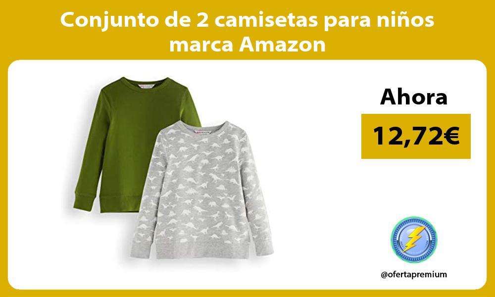 Conjunto de 2 camisetas para niños marca Amazon