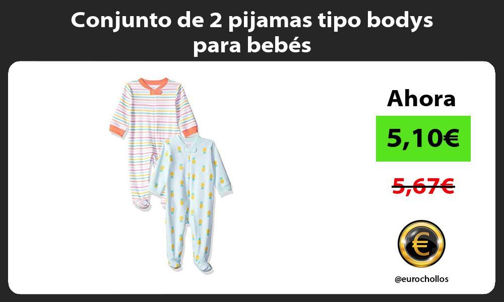 Conjunto de 2 pijamas tipo bodys para bebés