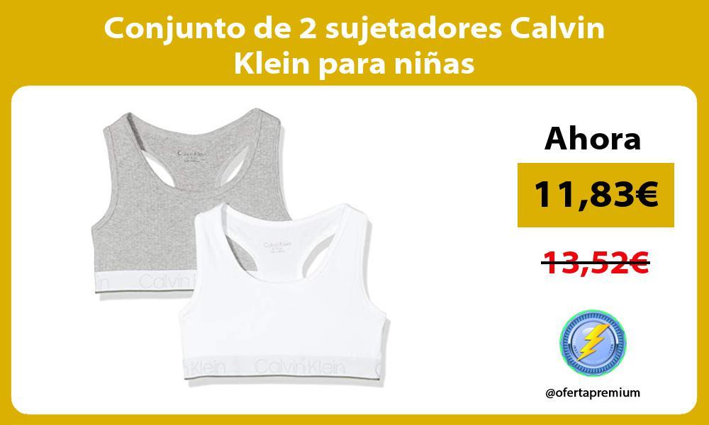 Conjunto de 2 sujetadores Calvin Klein para niñas