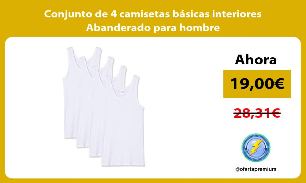 Conjunto de 4 camisetas básicas interiores Abanderado para hombre