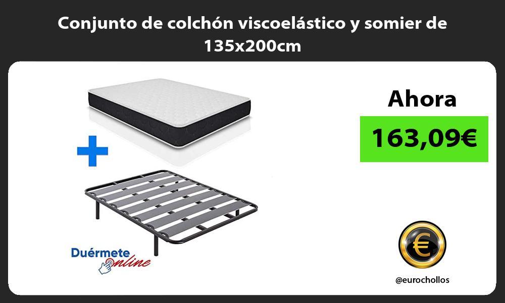 Conjunto de colchón viscoelástico y somier de 135x200cm
