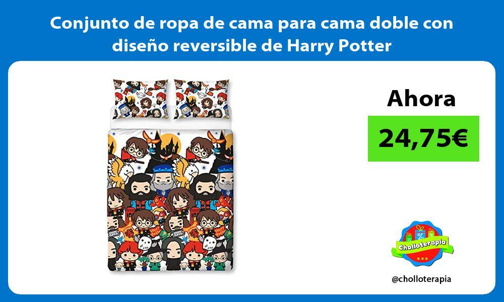 Conjunto de ropa de cama para cama doble con diseño reversible de Harry Potter