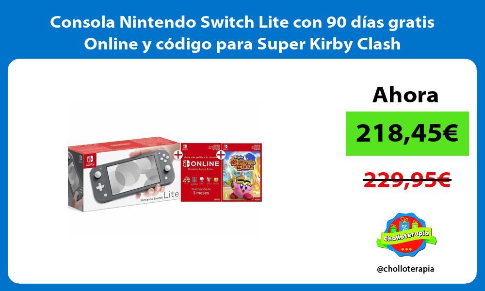 Consola Nintendo Switch Lite con 90 días gratis Online y código para Super Kirby Clash