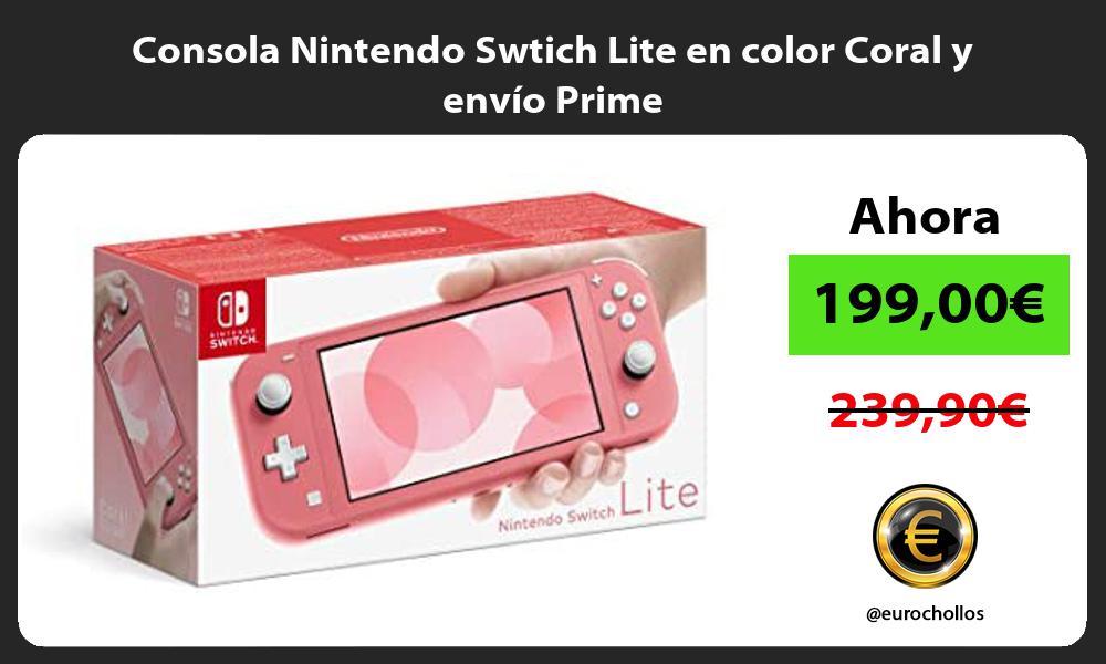 Consola Nintendo Swtich Lite en color Coral y envío Prime