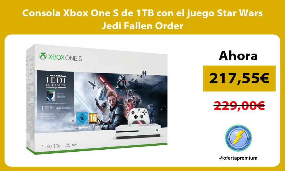 Consola Xbox One S de 1TB con el juego Star Wars Jedi Fallen Order