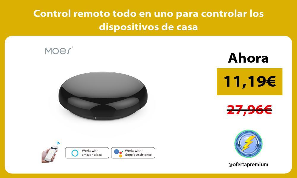 Control remoto todo en uno para controlar los dispositivos de casa