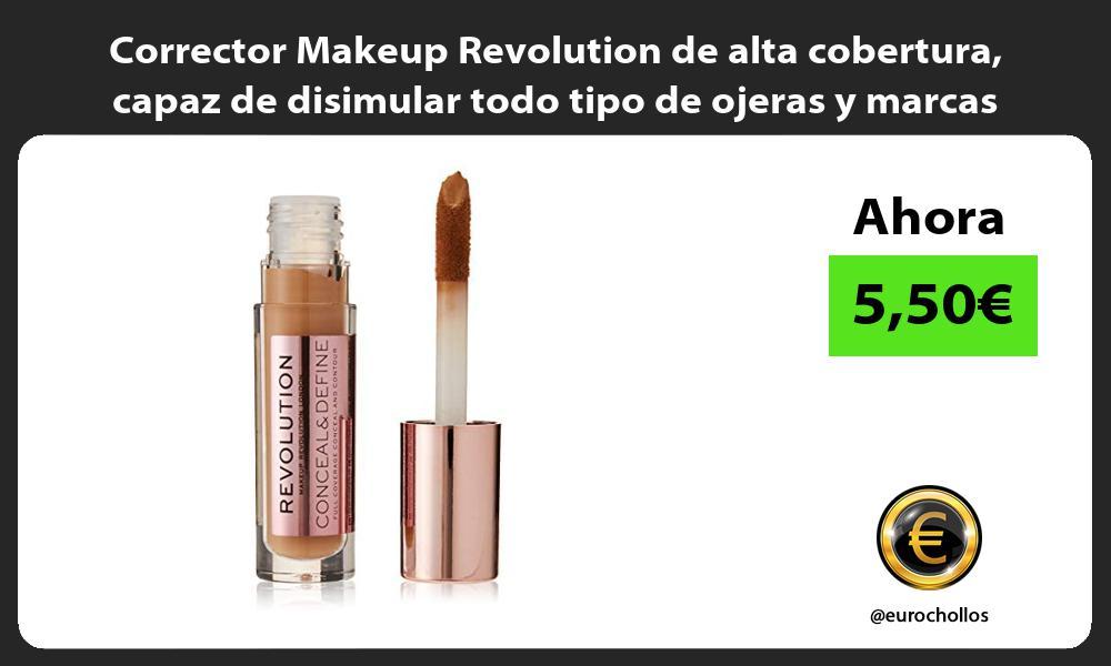 Corrector Makeup Revolution de alta cobertura capaz de disimular todo tipo de ojeras y marcas