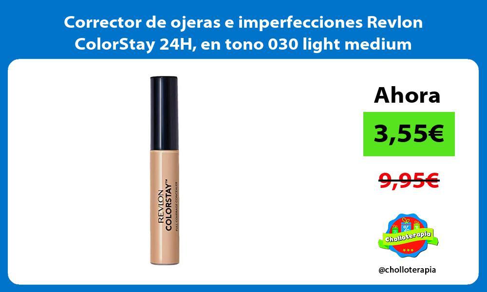 Corrector de ojeras e imperfecciones Revlon ColorStay 24H en tono 030 light medium