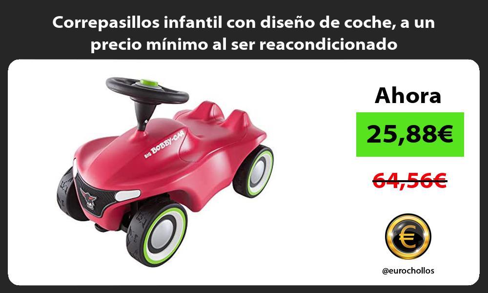 Correpasillos infantil con diseño de coche a un precio mínimo al ser reacondicionado