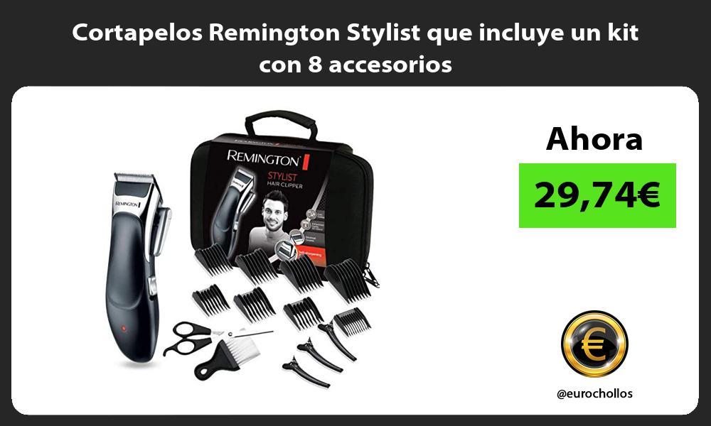 Cortapelos Remington Stylist que incluye un kit con 8 accesorios