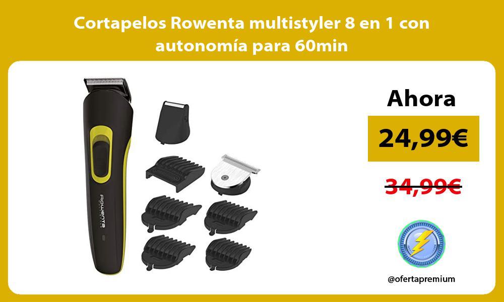 Cortapelos Rowenta multistyler 8 en 1 con autonomía para 60min
