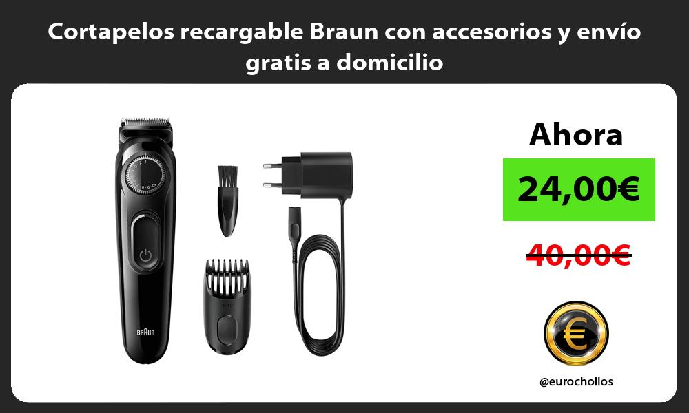 Cortapelos recargable Braun con accesorios y envío gratis a domicilio