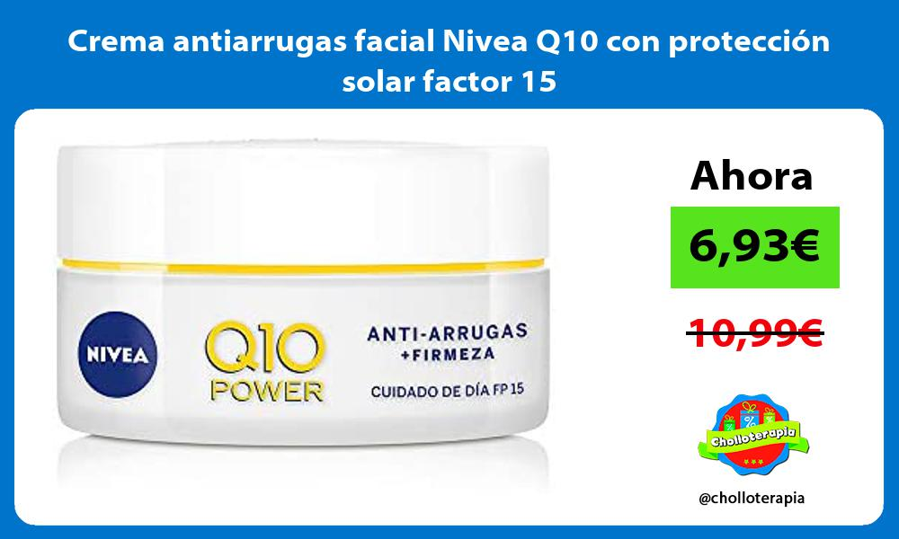 Crema antiarrugas facial Nivea Q10 con protección solar factor 15