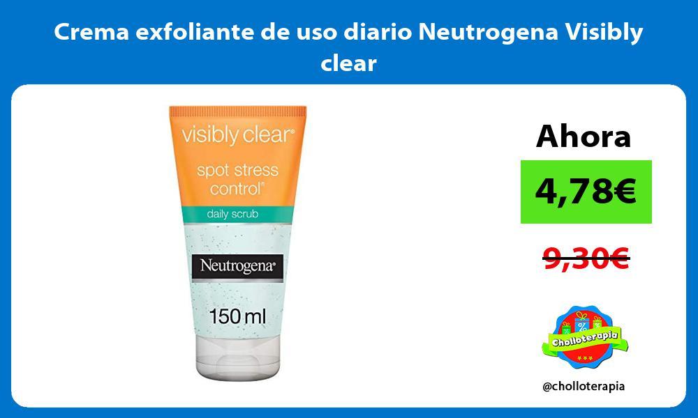 Crema exfoliante de uso diario Neutrogena Visibly clear
