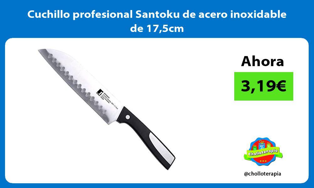Cuchillo profesional Santoku de acero inoxidable de 175cm