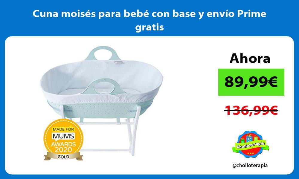 Cuna moisés para bebé con base y envío Prime gratis
