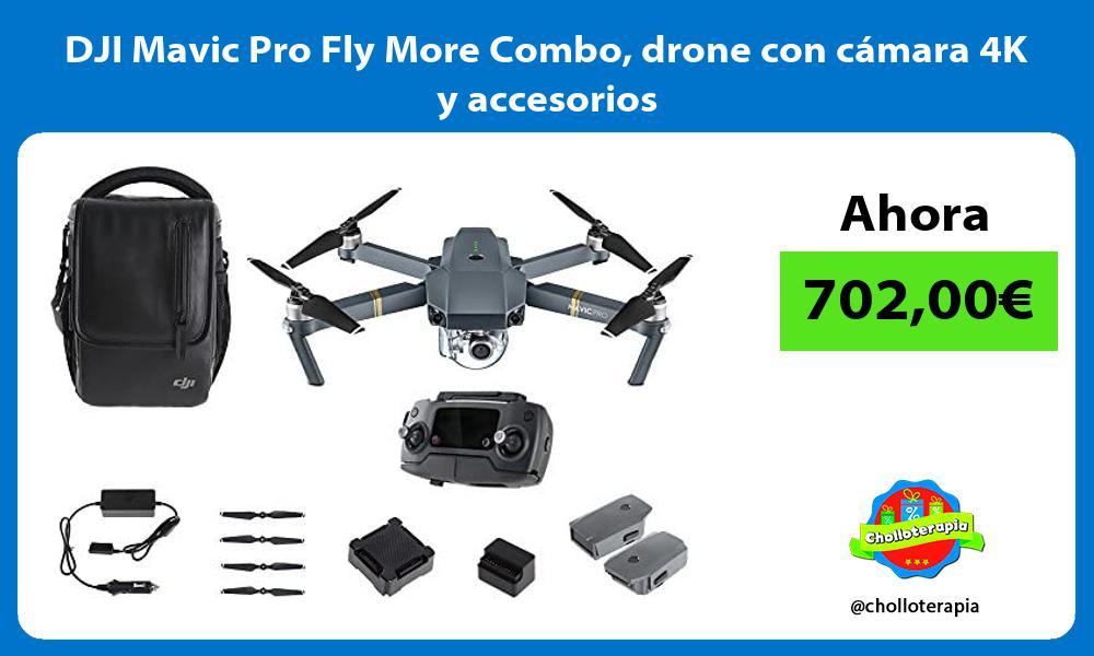 DJI Mavic Pro Fly More Combo drone con cámara 4K y accesorios