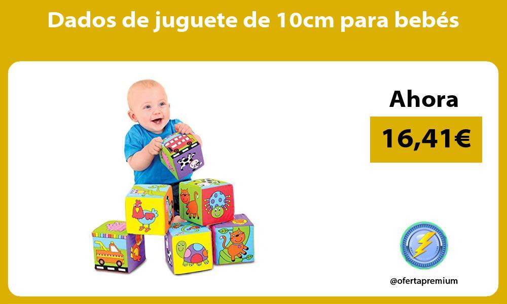 Dados de juguete de 10cm para bebés