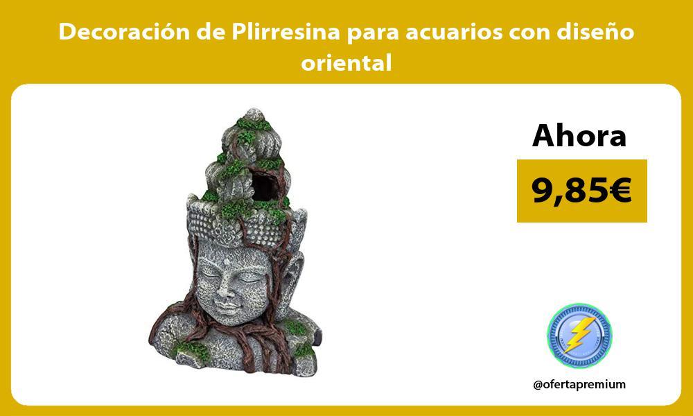 Decoración de Plirresina para acuarios con diseño oriental