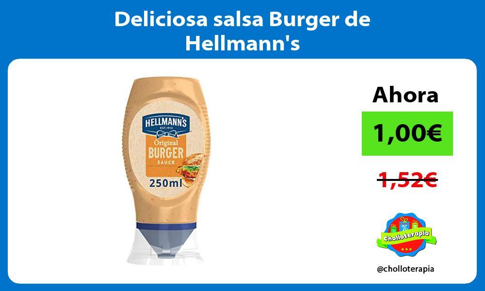 Deliciosa salsa Burger de Hellmanns