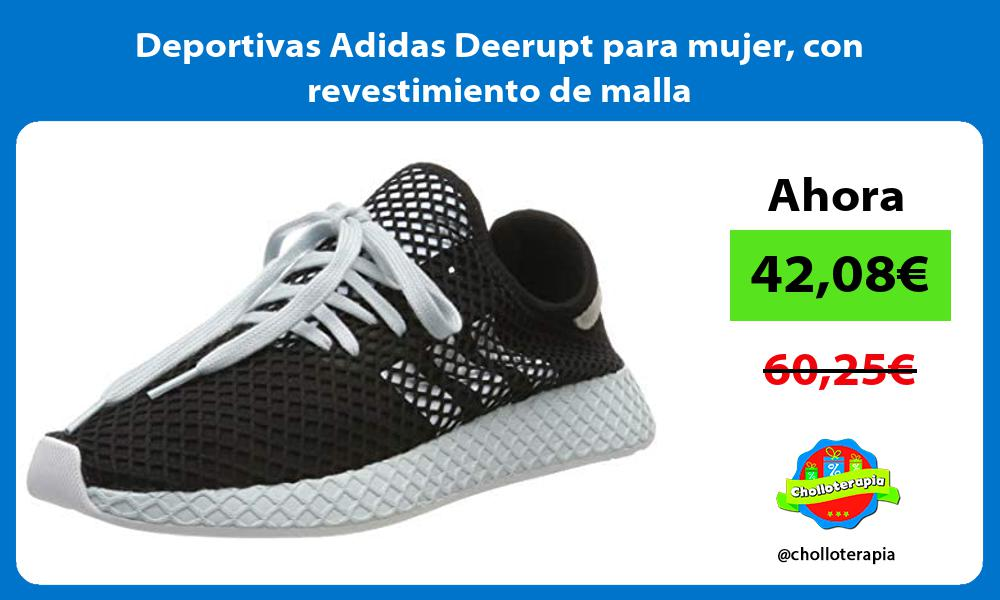 Deportivas Adidas Deerupt para mujer con revestimiento de malla