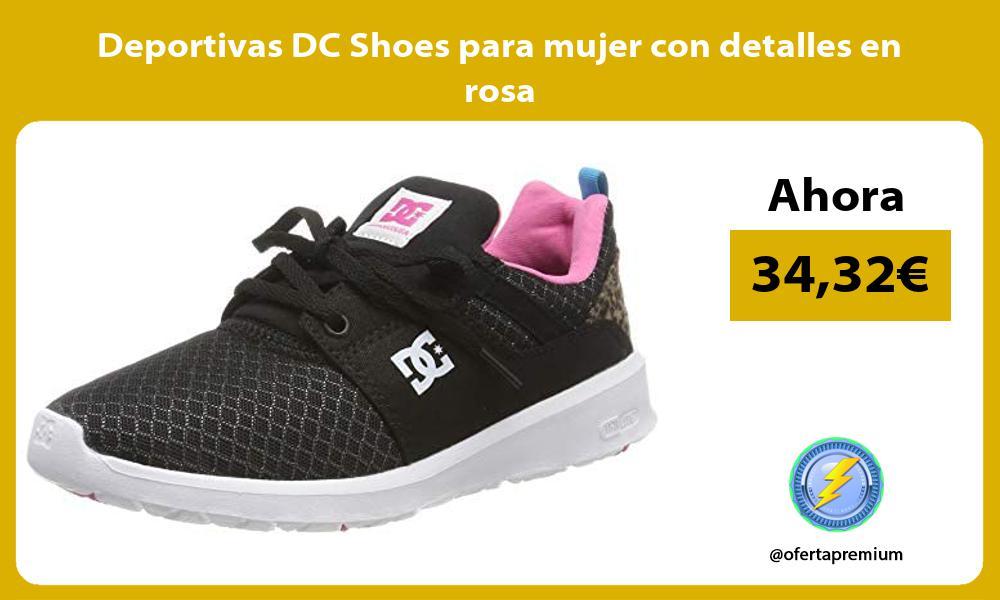 Deportivas DC Shoes para mujer con detalles en rosa