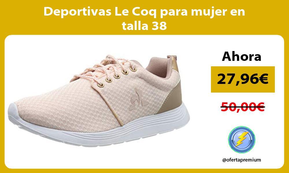 Deportivas Le Coq para mujer en talla 38