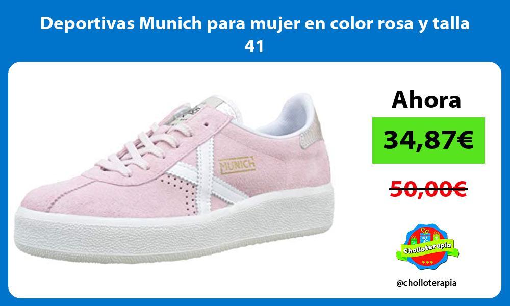 Deportivas Munich para mujer en color rosa y talla 41